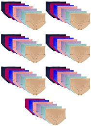 48 Bulk Yacht & Smith Womens Cotton Lycra Underwear Size 3X Large