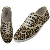 Wholesale Footwear Women's Leopard Printed Canvas Shoe