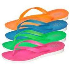 Wholesale Footwear Women's Neon Flip Flops