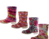 Wholesale Footwear Children's Water Proof Print Rubber Rain Boots
