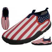 Wholesale Footwear Women's Us Flag Printed Water Shoes