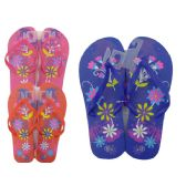 Wholesale Footwear Woman's Flower Printed Flip Flops