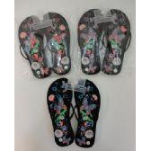 Wholesale Footwear Ladies Flip Flops [large Butterfly & Flowers]