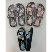 Wholesale Footwear Ladies Platform FliP-Flops [lg Butterfly & Daisies]