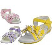 Wholesale Footwear Toddlers 3 Flower Top Sandals.