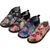"Wholesale Footwear Women's Floral Printed Wave"" Water Shoes"