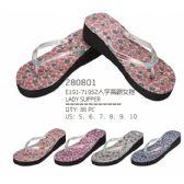 Wholesale Footwear Womans Printed Flop Assorted Colors