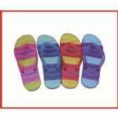 Wholesale Footwear Womans 3 Tone Color Flip Flop