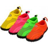 Wholesale Footwear Youth Neon Color Aqua Sock