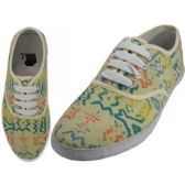 Wholesale Footwear Women's Printed Canvas Shoes