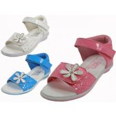 Wholesale Footwear Toddlers Velcro Top And Side With Flower Top Sandals