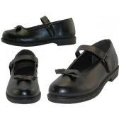 Wholesale Footwear Big Girls Mary Janes Black School Shoe