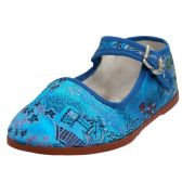 Wholesale Footwear Toddlers' Brocade Mary Janes ( Turquoise Color Only)