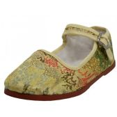 Wholesale Footwear Toddlers' Brocade Mary Janes ( Gold Color Only)