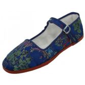 Wholesale Footwear Women's Brocade Mary Jane Shoes ( Navy Color Only)