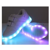 Wholesale Footwear Led Shoes Kids Mix Size ( 18 Pairs ) White