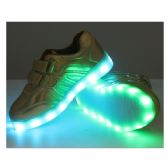 Wholesale Footwear Led Shoes Kids Mix Size ( 18 Pairs ) Gold Only