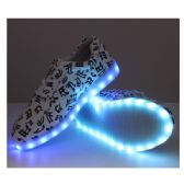 Wholesale Footwear Led Shoes Kids Mix Size White With Musical Notes