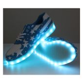Wholesale Footwear Led Shoes Adult Mix Size Blue With White Stars