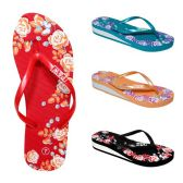 Wholesale Footwear Women's Eva Slippers/roses Assorted Color