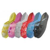 Wholesale Footwear Women's Mesh Upper With Sequin Mid-Platform Comfort Slippers