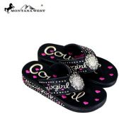 Wholesale Footwear Montana West Fun Novelty Embroidered Collection Flip Flops Case