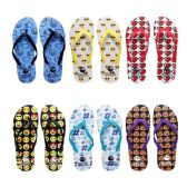 Wholesale Footwear Women's Assorted Emoji Print Flip Flops