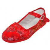 Wholesale Footwear Miss Satin Brocade Upper Mary Janes Shoe ( Red Color Only)