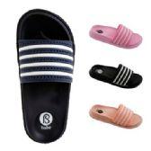 Wholesale Footwear Women's Striped Slide Slippers