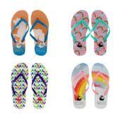 Wholesale Footwear Womens Rainbow Flip Flops