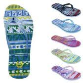 Wholesale Footwear Womens Ombre Tribal Flip Flop