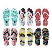 Wholesale Footwear Women's New York Printed Flip Flops