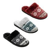 Wholesale Footwear Women's Winter Snow Flake Printed Slippers