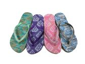 Wholesale Footwear Womens Flip Flops With Diamond Print