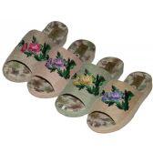 Wholesale Footwear Women's Women's Cloth Open Toes Flower Embroidery Upper House Slippers