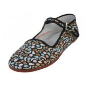 Wholesale Footwear Womens Fruit Printed Cotton Upper Classic Mary Jane Shoes