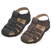 Wholesale Footwear Boys Pu Leather Upper Velcro Sandals
