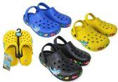 Wholesale Footwear Boy's & Girl's Clogs w/ Ocean Life Patch Trim