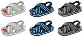 Wholesale Footwear Toddler Boy's Two Tone Siena Sandals w/ Adjustable Heel Strap & Printed Footbed