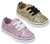 Wholesale Footwear Girl's Sequin Embroidered Sneakers - Choose Your Color(s)