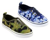 Wholesale Footwear Boy's Canvas No Lace Slip-On Sneakers w/ Camo Print