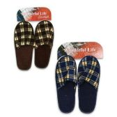 Wholesale Footwear Mens Checkered Slippers Assorted Colors Size S-L