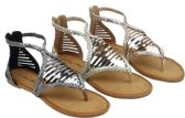 Wholesale Footwear Ladies' Fashion Sandals In Pewter