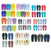 Wholesale Footwear Pallet Deal Assorted Men And Woman Flip Flops